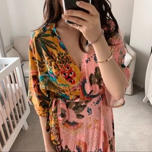 😍 Farmrio Wrap Dress Small